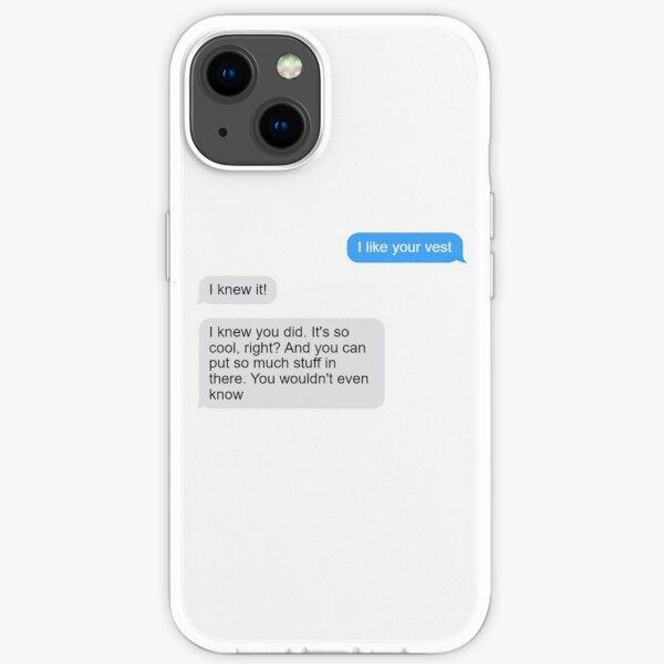 me gusta tu chaleco Funda blanda para iPhone