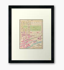 Vintage Manchester Nh Map: Framed Prints | Redbubble