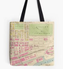 Vintage Map of Manchester NH (1892) (2) Tote Bag