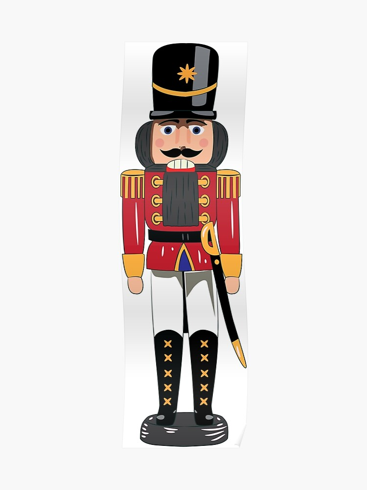Christmas Nutcracker.Christmas Nutcracker Soldier Poster