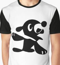 Popplio Black Graphic T-Shirt