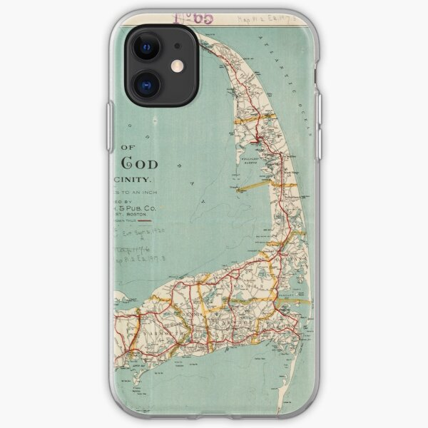 Vintage Map of Cape Cod (1917)  iPhone Soft Case