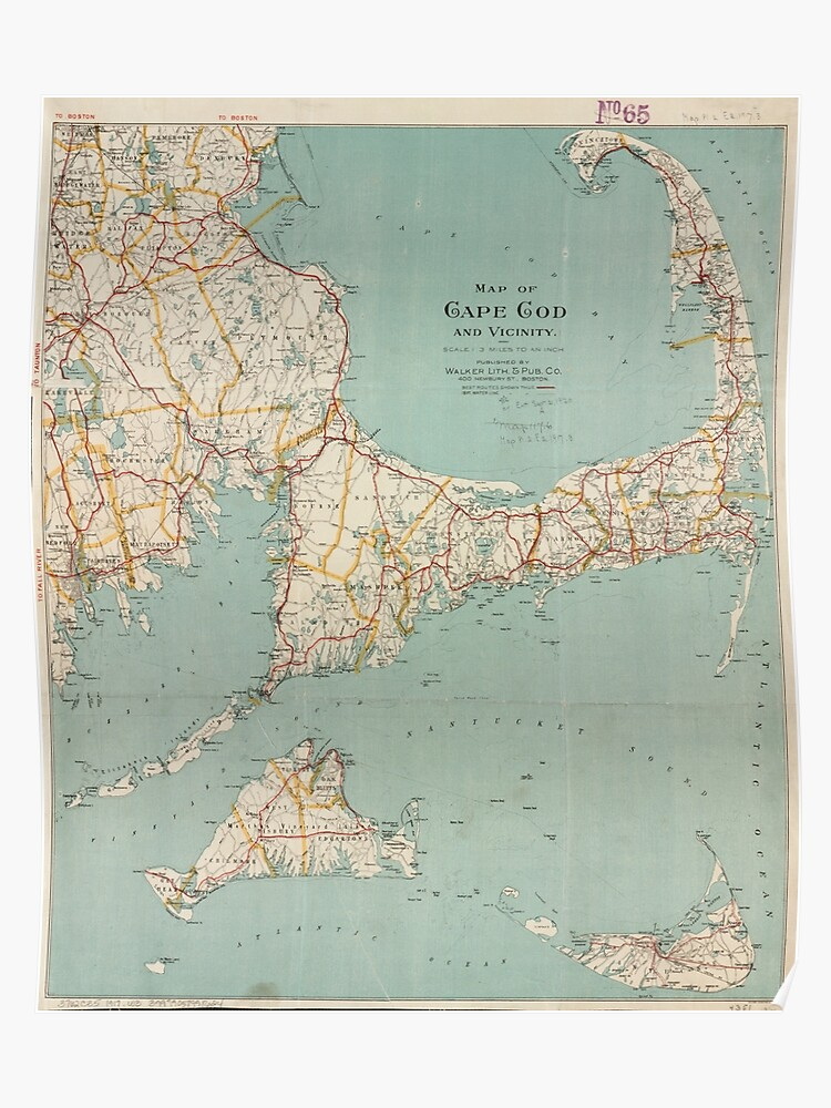 Vintage Map of Cape Cod (1917) | Poster
