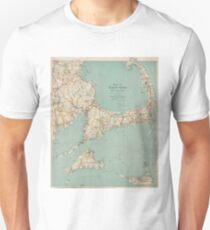 Vintage Map of Cape Cod (1917)  Unisex T-Shirt