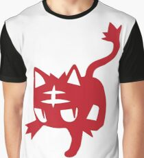 Litten Red Graphic T-Shirt