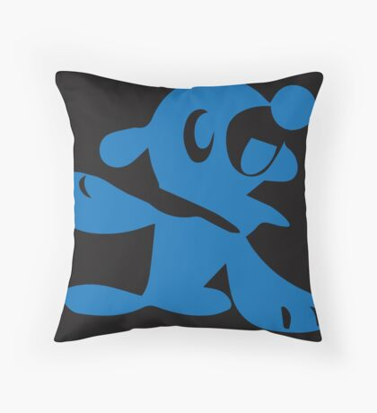 Popplio Blue Throw Pillow