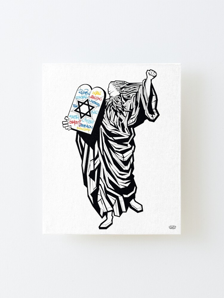 Alternate view of Moses and the 12 tribes Mounted Print