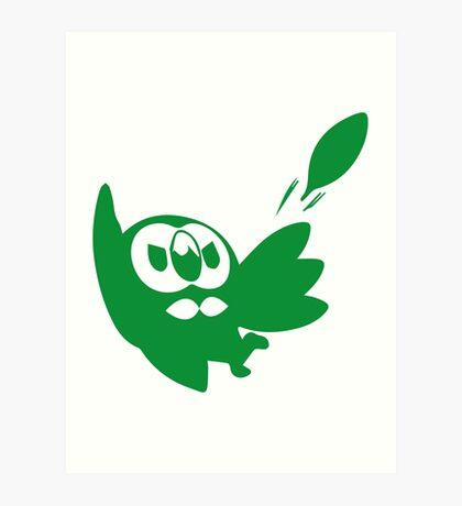 Rowlet Green Art Print