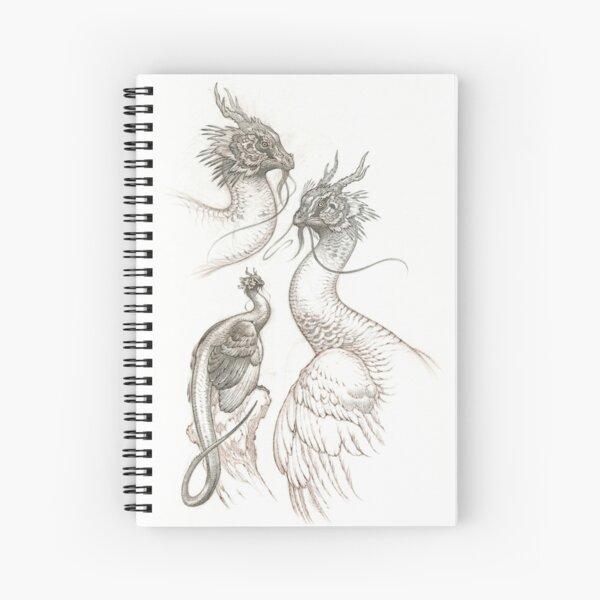 Peafowl Dragon Spiral Notebook
