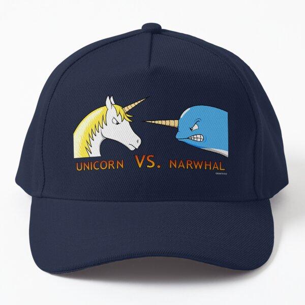 Unicorn Vs. Narwhal Baseball Cap