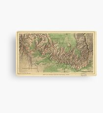 Vintage Map of The Grand Canyon (1926) Canvas Print