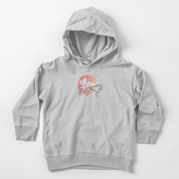 Space Octopus Black Hole - Colorized Toddler Pullover Hoodie