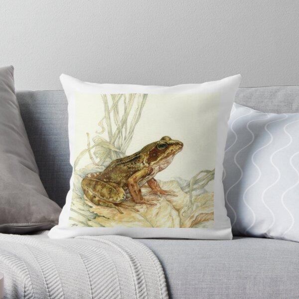 European Common Frog Throw Pillow