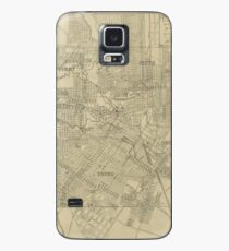 Vintage Map of Downtown Houston (1913) Case/Skin for Samsung Galaxy