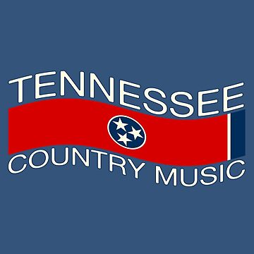 Tennessee Flag Country Music (wave) by shviala