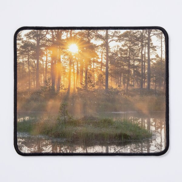 Sunrise in a bog Mouse Pad