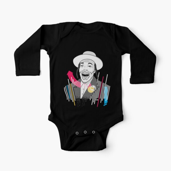 I can laugh - funny, smile | Modern and original jewish art Long Sleeve Baby One-Piece