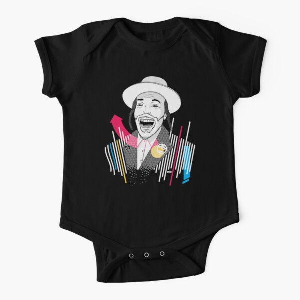 I can laugh - funny, smile | Modern and original jewish art Short Sleeve Baby One-Piece