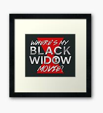 Black Widow Movie Framed Print