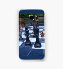 BLACK AND WHITE GEOMETRIC OUTDOOR CHESS BOARD GAME  Samsung Galaxy Case/Skin