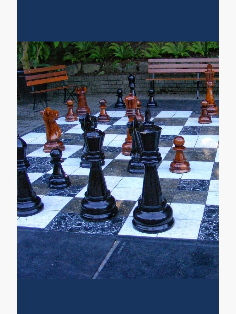 BLACK AND WHITE GEOMETRIC OUTDOOR CHESS BOARD GAME  by nicolafurlong