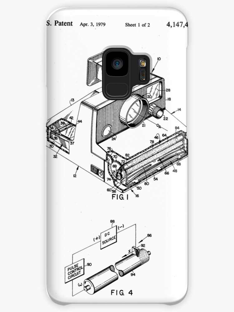 Retro Vintage Polaroid Film Camera Patent Drawing Cases Skins For