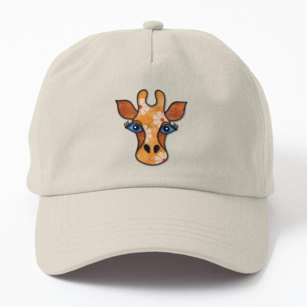 Gigi - quirky giraffe portrait Dad Hat