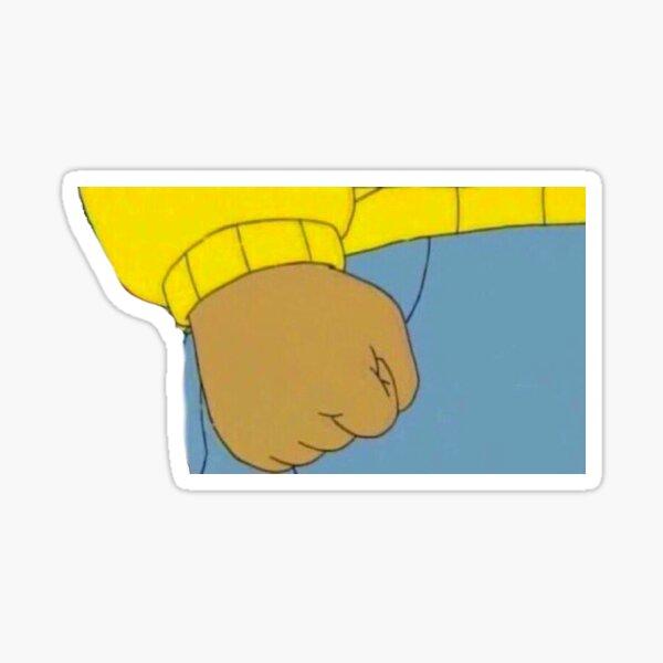Arthur Meme Sticker Sticker