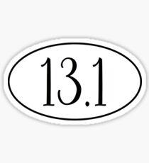 Half marathon- 13.1 Sticker