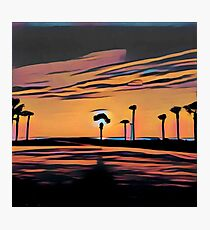 Florida, dawn, nature,abstract,painted,contemporary art Photographic Print