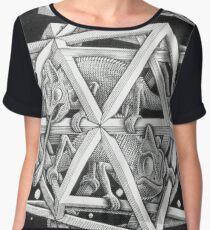 MC Escher Halftone Women's Chiffon Top
