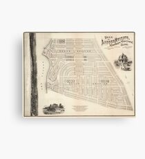 Vintage Map of Marthas Vineyard (1873) Canvas Print
