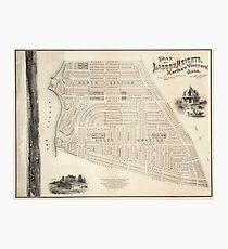 Vintage Map of Marthas Vineyard (1873) Photographic Print