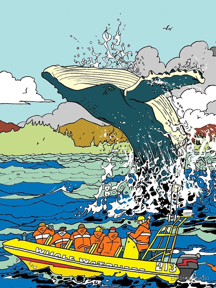Jumping Whale by BalbinaStudio