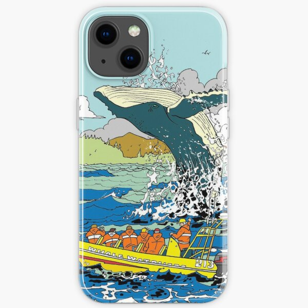 Jumping Whale iPhone Soft Case