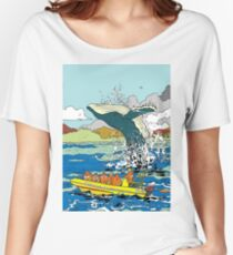 Jumping Whale Women's Relaxed Fit T-Shirt