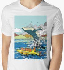 Jumping Whale Men's V-Neck T-Shirt