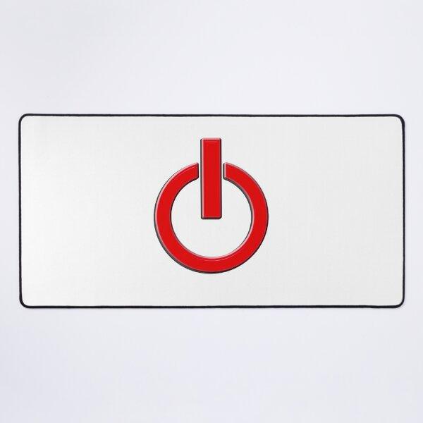 Puissance. Commutateur, Ordinateurs, MISE SOUS TENSION, Arrêter, Arrêter, Appareils numériques, électricité, Éteindre! Allumer! Tapis de souris XXL