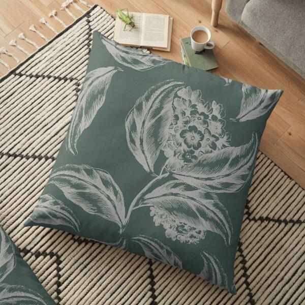Shy Hoya Carnosa in Pine Floor Pillow