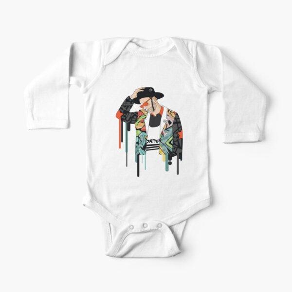 Jewish Man think | Modern and original jewish art Long Sleeve Baby One-Piece