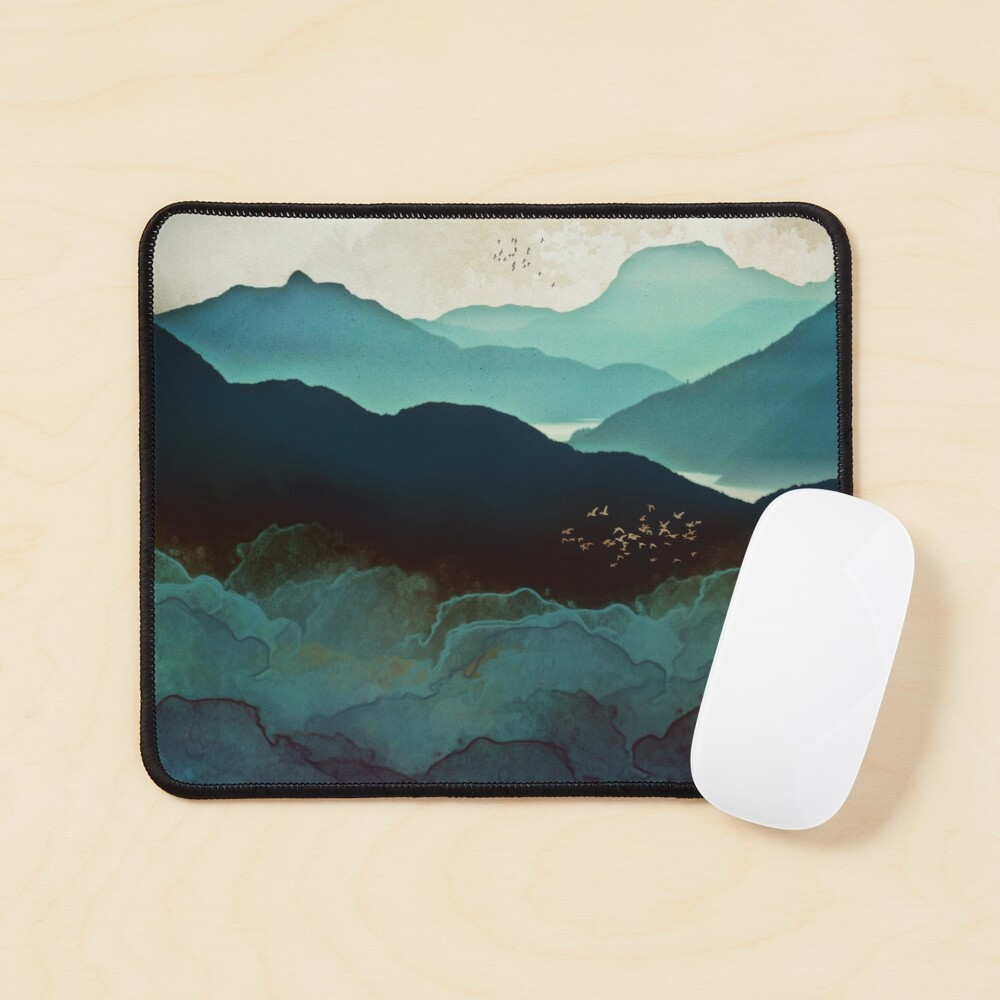 Indigo Mountains Mouse Pad