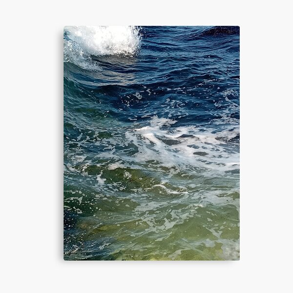 Colored ocean waves  Canvas Print