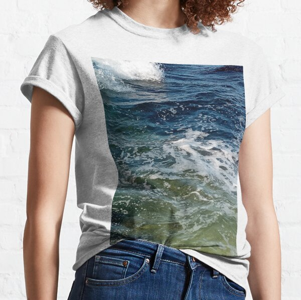 Colored ocean waves  Classic T-Shirt