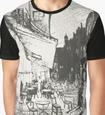 Café Terrace at Night Graphic T-Shirt