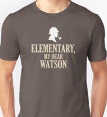Sherlock Holmes 'Elementary, My Dear Watson' quote Unisex T-Shirt