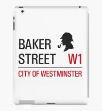 Sherlock Holmes Baker Street W1 sign iPad Case/Skin