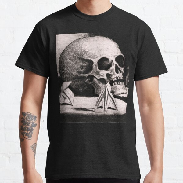 The Origami of Death Skull Sketch Classic T-Shirt