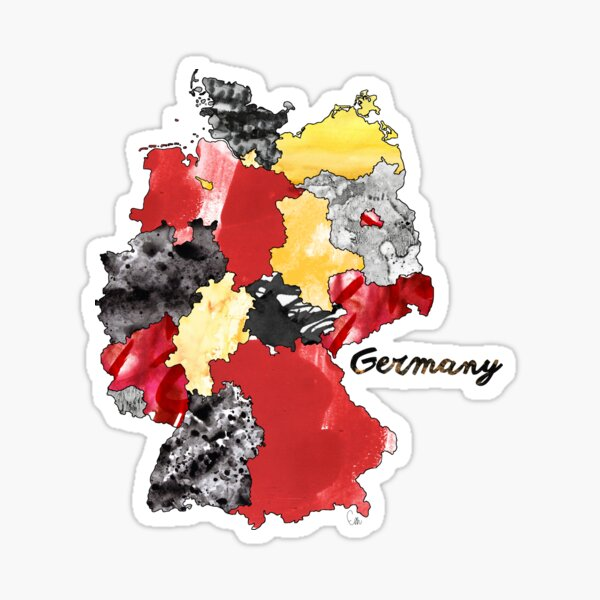 Watercolor Countries - Germany Sticker