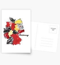 Watercolor Countries - Germany Postcards