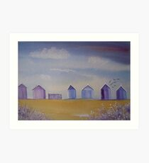 Beach Huts Art Print